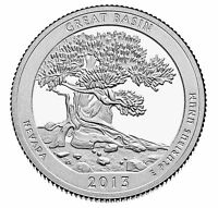 2013 S SILVER PROOF AMERICA THE BEAUTIFUL GREAT BASIN 90% SILVER QUARTER
