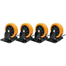 5 X 1 12 Swivel Casters Polyurethane Total Lock Brake 500lb Ea4tool Box