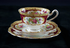 "1939-45 rare Royal Albert CROWN CHINA ""Lady Hamilton"" Trio beautifully preserved"