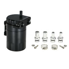 Black Aluminum Baffled Oil Catch Can Tank Reservoir Breather With Fitting Supply
