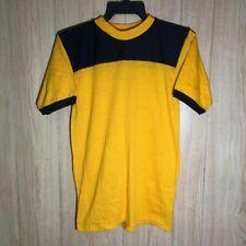 Vintage Football Style Jersey Shirt Blank 70's Siz 00004000 e Large Gold/Blk Nos Usa