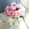 10 Heads Bouquet Artificial Peony Silk Flowers Wedding Bridal Party Home Decor