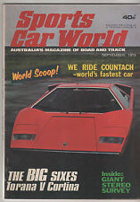 Sports Car World 1973 Sep Torana 6 Cortina P76 V8 MGB Corvette Nota Porsche Carr