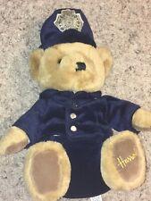 "Harrods Bobby Police Teddy Bear Plush Knightsbridge London Stuffed Blue Suit 11"""