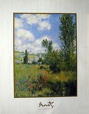 Claude Monet Path Through the Poppies Saint-Martin 22x28 Poster