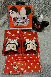 Primark Minnie Mouse Relax Bathroom Soap epson Salt strawberry Bath Bomb Cap Set