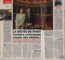 Coupure de presse Clipping 1993 La Dictée de Bernard Pivot (1 page 1/2)