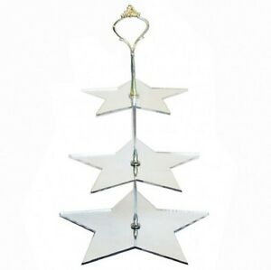 Three Tier Star Cake Stand - Available in a Range of Colours