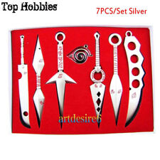 Anime Naruto Cosplay Model Metal Sword Knife 7PCS/Set Silver Throwing Knives
