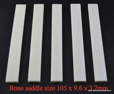 Top 10pcs water buffalo bone saddle blanks size 105 x 9.6 x 3.2mm grade AAA