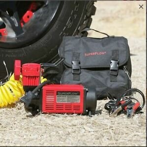 SuperFlow 12V Heavy Duty Air Compressor Inflator 4X4, truck, SUV, and RV tires
