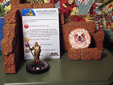 Mageknight / HeroClix - Skyguard Captain #016 - Both Bases