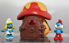 (V) Peyo Schleich Schumpf , Schlümpfe Haus 1978 + 2 Figuren  2004 & 2006
