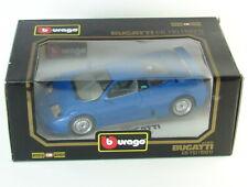 1991 Burago Bugatti EB110 Blue 1:18 Scale Diecast Car 110 Up Spoiler Diamonds 91
