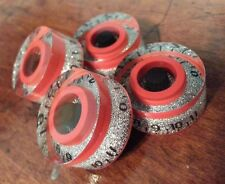 4 Guitar spees volume/tone knobs from 0-11.. Silver Flake/Red/Black..        JAT