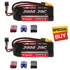 Venom DRIVE LiPo Battery 2S 1P 7.4V 2000mAh 20C w/ Universal 2.0 Plug (2)