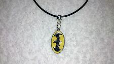 Unwanted BATMAN Black Rubber THONG NECKLACE 18 Inches Party Bag Gift