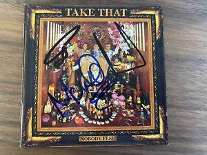 TAKE THAT - GARY BARLOW, HOWARD DONALD, MARK OWEN signed NOBODY ELSE CD cover