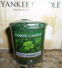"1 Brand New Yankee Candle ""LUCKY SHAMROCK"" VOTIVE /SAMPLER W/ free ship"