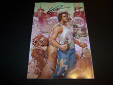 SIGNED ERIC POWELL BIG TROUBLE IN LITTLE CHINA #1 JACK BURTON DODSON VARIANT