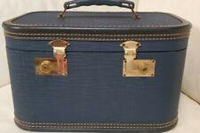 Mid Century Ceylon Blue Train Case / Luggage / Tres' Chic!
