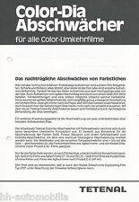 Prospekt Tetenal Color Dia Abschwächer Color Umkehrfilme 80er J. Fotochemikalien