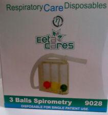 new  3 balls spirometry single patient use Tri-Balls Incentive health $