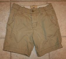 Hollister Mens Boys Size 28 Tan Shorts