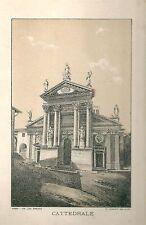 1894 IVREA Duomo di Santa Maria Canavese Tomatis Litografia