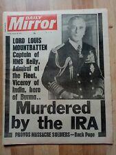 Mirror Newspaper Aug 28 1979 Mountbatten Murder. Southend Riots. Ferry Terror.