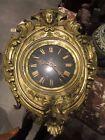 antiguo timbre ojo de buey reloj de pared ÉPOCA III S. XIX latón repujado