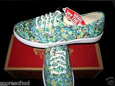 Vans Authentic Womens Lo Pro Ditsy Floral Pool Green Canvas shoes size 5.5 NWT