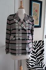Zara Red Black White Blazer Plaid Checkered Jacket Coat New NWT Size Medium