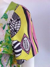 Stunning Versace multi-color black pink yellow top skirt suit