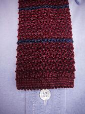BROOKS BROTHERS Slim Knit Tie - Burgundy Navy Blue $79.50 ~ NWT New Italy