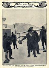 Prinzregent Luitpold beim Eisschiessen in den oberbayrischen BeBilddokument 1904