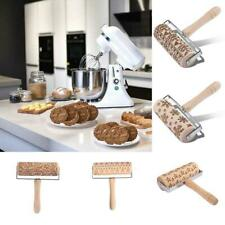 Christmas Embossing Rolling Pin Baking Cookie Noodle Biscuit Cake Dough Roller.
