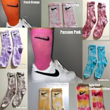 NIKE Tie-Dye Custom Socks Vintage Retro Nike Coloured Crew Socks