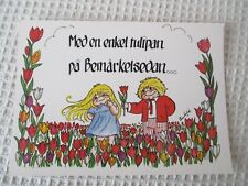 "A SWEET POSTCARD  ""HJARTLIGA HALSNINGAR, SIGNED ANN SOFIE"