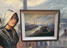 Charleroi museale XXL Industriemalerei Ölgemälde Expressionist J.v.d. Leeuw 1943