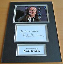 David Bradley SIGNED autograph A4 Photo Mount Display Harry Potter Film & COA