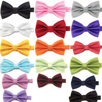 Men's Classic Formal Butterfly Solid Pre-tied Bowtie Wedding Party Prom Charm