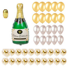 41Pcs Champagne Bottle Confetti Latex Balloons Party Wedding Birthday Supplies