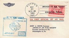 First Official Jet Air Mail Cover to AAMS Philadelphia 1953 & More !RARE READ!