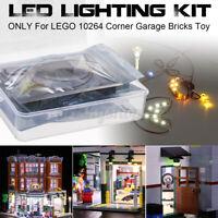 LED Licht Beleuchtung Set nur Für lego 10264 Ecke Garage Auto Wartung