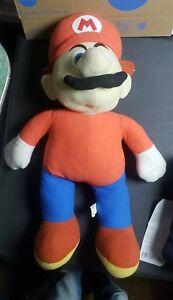 "RARE Plush 26"" Super Mario Bros Doll Nintendo Kellytoy 2001 Large Jumbo Stuffed"