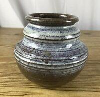 "Vintage Pottery - Judy Fernyhough Smith 1970's glazed Ceramic pot vase 5x5"""