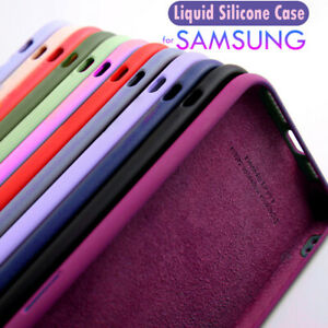 Case For Samsung Galaxy S21 Ultra Note20 S20FE Liquid Silicone Soft Cover
