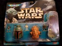 NOS Star Wars Micro Machines Vintage Rare 3 Mini Heads Galoob (1996)
