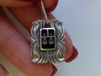 Vintage silver pendant Soviet 916 USSR tests star 4.77g